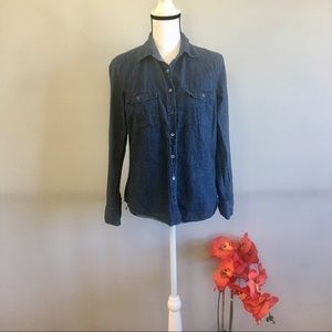 J. Crew denim button down top